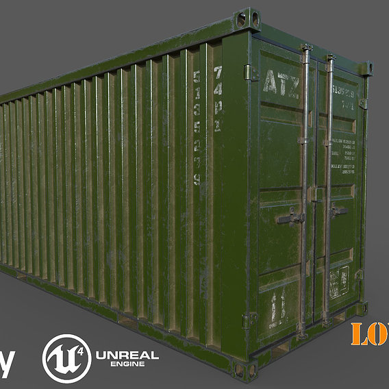 Old Green Shipping Container
