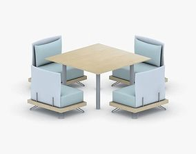 1075 - Sofa Chair and Table Set 3D asset