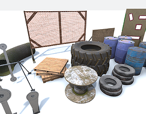 Game and VR Ready Shooting Range Assets animated