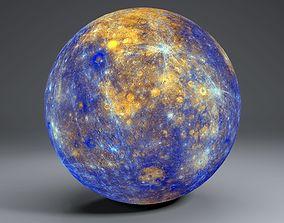 Mercury 11k Globe 3D