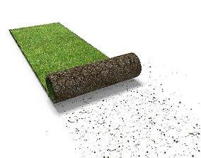 Grass turf roll 3D model