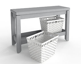 3D model Console with KNARRA Baskets
