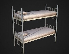 Bunk Bed Low Poly 3D asset