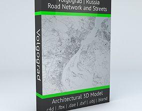 Volgograd Road Network and Streets 3D
