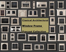 3D model Clasical architectural window frame precast