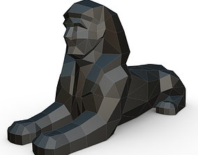 3D print model sphinx low poly