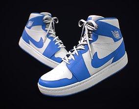 3D asset Sneaker Nike Air Jordan White Blue