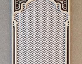 Set of arab lattice 3D model