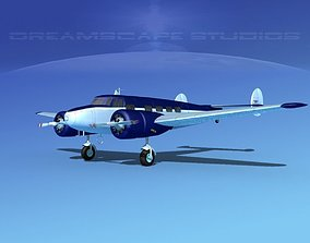 Lockheed L10 Electra Private 5 3D