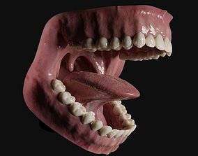 Photorealistic human mouth 3D asset