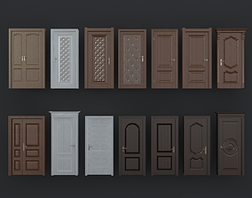 3D model European Wooden Doors