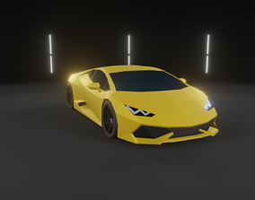 3D model realtime Lamborghini Huracan Low-Poly Car