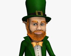 Leprechaun 3D model game-ready