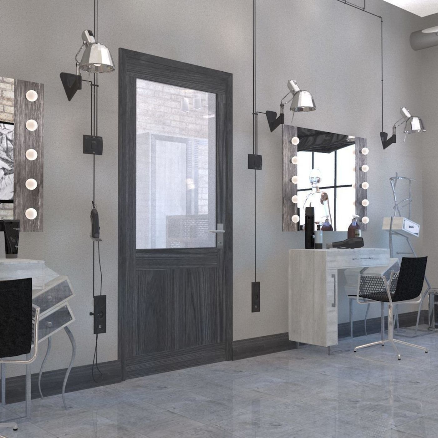 Interior for model agency