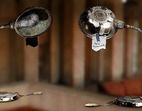 Old Desk Metallic Lamp 3D asset