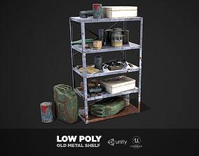 3D asset Metal Shelf Collection - Modular Game ready props