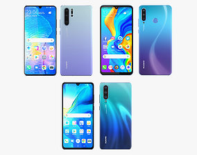 3D Huawei P30 and P30 Pro and P30 Lite