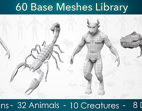 3D model 60 Base Meshes