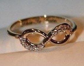 3D print model accessory infinity diamond ring