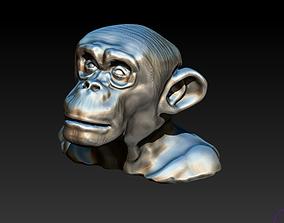 3D print model Chimp Monkey Orangutang Gorila bust head