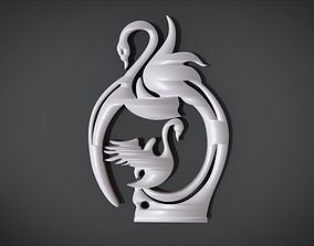 Swan Frame Ornament Furniture 3D print model