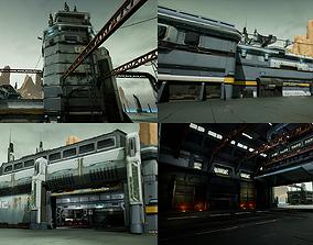 Modular Sci-Fi Hangars Location 3D asset