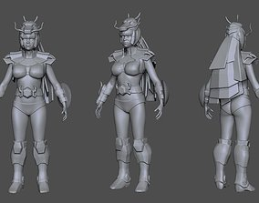 chinese Saint Seiya 3D Printable Armor girl 2 AAA