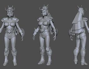 chinese Saint Seiya 3D Printable Armor girl 2 AAA