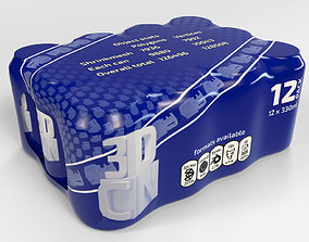 3D model 12 pack 330ml shrinkwrapped beverage