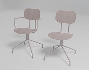 3D NEW SCHOOL - Fabric chair with armrests -