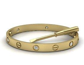 Oval Classic Woman Bracelet Two sizes 3D printable model 2