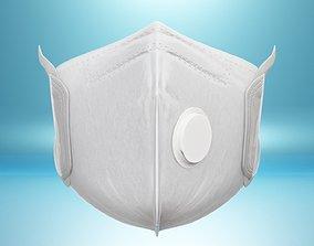 Medical-Surgical Mask Anti Coronavirus Mouth 3D asset 2