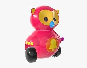 Owl toy 02 3D model PBR