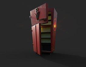 Refrigerator V8 Cartoon - Game Mesh 3D model