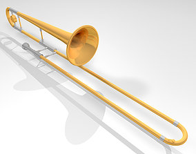 3D model Trombone with Working Slide