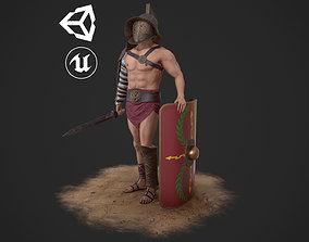 Murmillo Gladiator 3D model rigged
