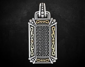 3D printable model Stylish pendant with patterns with 1