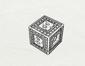 3D print model Baby Block Charm - B