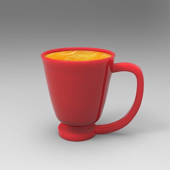 built in coaster mug