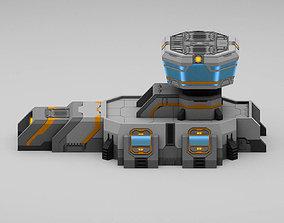 Sci-Fi Military Building - Gate Control 3D asset