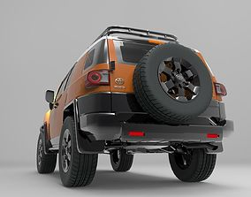 4x4 Toyota FJ Cruiser - Detailed Design 3D model