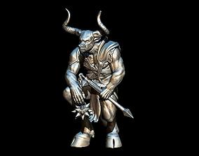 Minotaur art 3D printable model