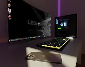 Gaming Room 3D neon