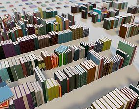 3D asset PBR Books Set