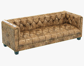 Restoration Hardware Savoy Leather Sofa 3D model