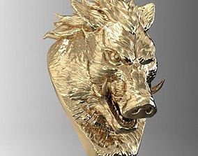 wild boar head 3D print model