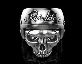 3D print model men Ride Life skull ring
