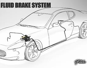 Car brake system 3D model