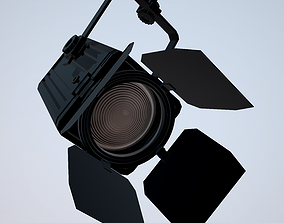 Studio Light PBR 3D model with Texture low-poly
