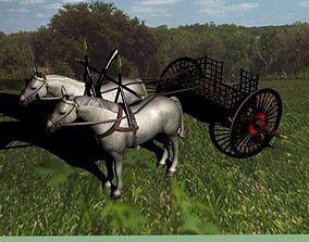 3D Chinese war chariot 770BC